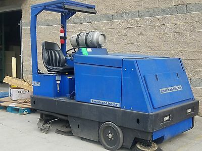 American Lincoln 7765 Industrial Combination Floor Sweeper Scrubber - LP Gas