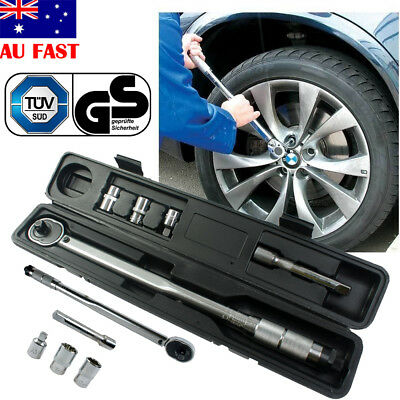 """5PCS 1/2"""" and 3/8"""" Torque Wrench Micrometer Ratchet Dual Drive Click Hand Tools"""