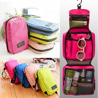 Portable Travel Makeup Case Toiletry Purse Organizer Hanging Wash Cosmetic Bags