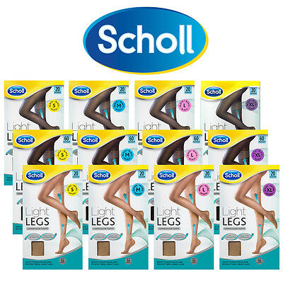 ツ Scholl Light Legs Compression Tights One Pair Choose Your Type S M L Xl 20 60