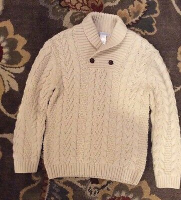 Janie and Jack boys cable knit sweater, size 6, NWOT