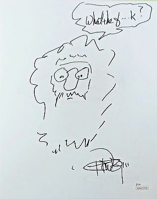 Tommy Chong Original Hand Drawn Signed Sketch 8x10 Photo JSA Authentic WP413320