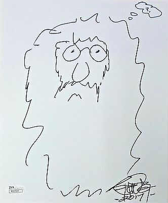 Tommy Chong Original Hand Drawn Signed Sketch 8x10 Photo JSA Authentic R45964