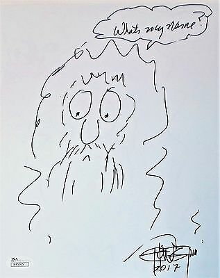 Tommy Chong Original Hand Drawn Signed Sketch 8x10 Photo JSA Authentic R45965