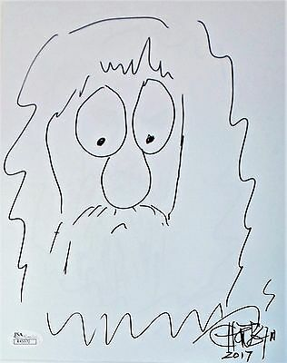 Tommy Chong Original Hand Drawn Signed Sketch 8x10 Photo JSA Authentic R45970