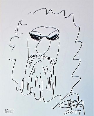 Tommy Chong Original Hand Drawn Signed Sketch 8x10 Photo JSA Authentic R45971