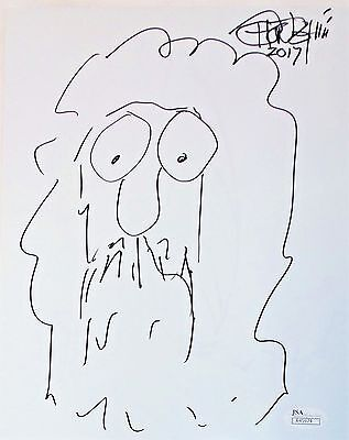 Tommy Chong Original Hand Drawn Signed Sketch 8x10 Photo JSA Authentic R45974