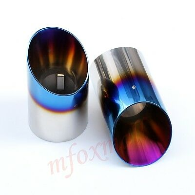 Steel Blue Tail Throat Exhaust Muffler End Pipe Tip For Mazda 6 CX-5 Atenza Part