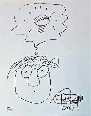 Tommy Chong Original Hand Drawn Signed Sketch 8x10 Photo JSA Authentic R45978