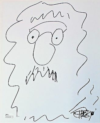Tommy Chong Original Hand Drawn Signed Sketch 8x10 Photo JSA Authentic R45979