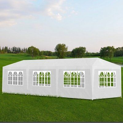 #Gazebo 3x9m White Party Tent Marquee Folding Up Canopy Outdoor Wedding Event