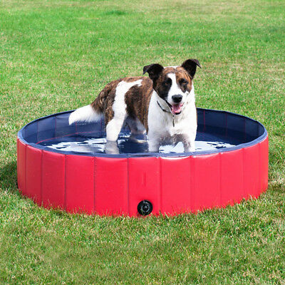 Hundepool Doggy Pool Schwimmbad Rot Durchmesser 80 120 160 cm