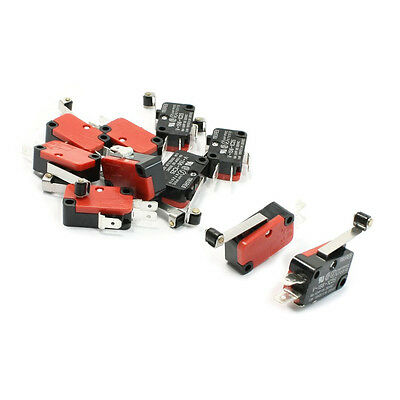 10 Pcs Micro Limit Switch Long Hinge Roller Lever Arm Snap Action LOT