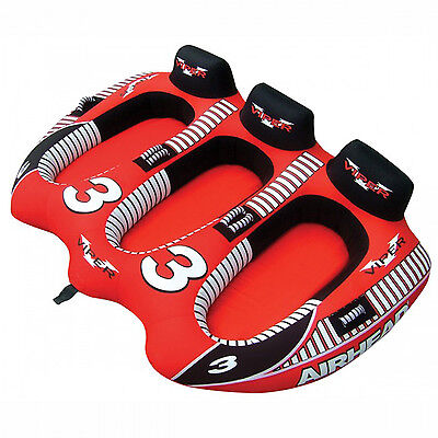 Airhead Viper 3 Towable Water Ski Tube Inflatable Biscuit Boat Ride