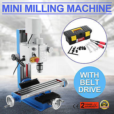 Mini Bench Top Mill & Drilling Machine Gear Driven, Adjustable Stop