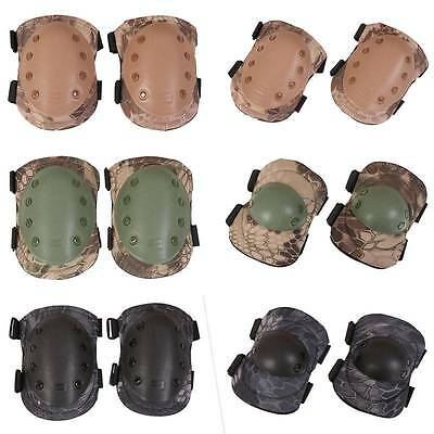 4pcs Tactical Airsoft Combat Protect Knee Pads Adjustable knee Protector Gear