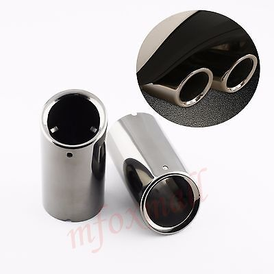 For VW Golf MK6 MK7 Golf7 2010-2016 Titanium Tail Eed Exhaust Muffler Pipe Cover