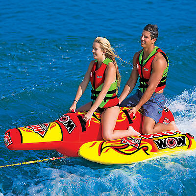 Wow Hot Sauce Towable Water Ski Tube Inflatable Biscuit Boat Ride