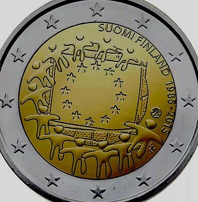 Finland 2€ 2 Euro Commemorative Coin 2015 Flag Drapeau BUNC from Roll