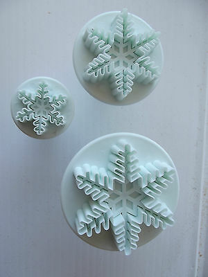New Plastic Ejectable Snowflake Mould,cake Decor Icing Mould 3 Sizes