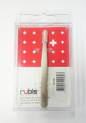 Rubis High Quality Premium Classic Slanted Tweezers STAINLESS STEEL *AU Seller*
