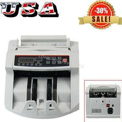 USA Bill Money Counter Counting Machine UV/MG Counterfeit Automatic Detector HOT