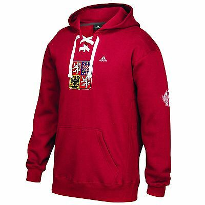 Adult Medium Team Czech Republic 16 World Cup of Hockey Primary Logo Hoodie H228
