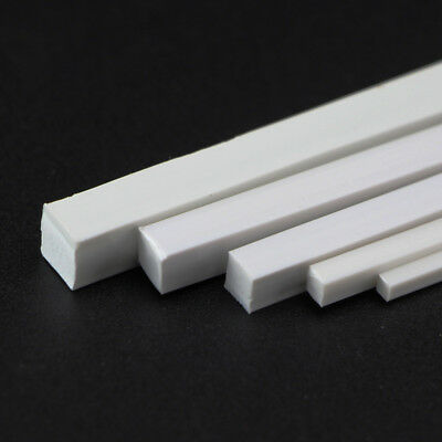10pcs 250mm ABS Plastic Rod Square Solid Bar DIY Model Building Multi Sizes