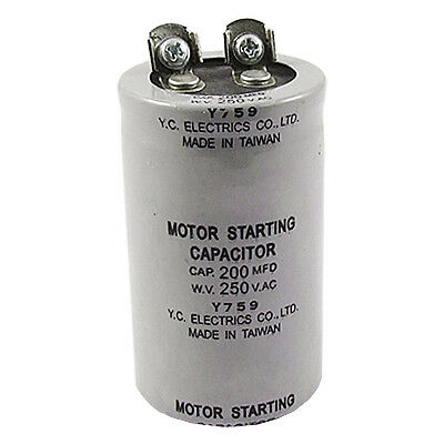 200MFD 200uF AC 250V Screw Terminal Motor Starting Capacitor