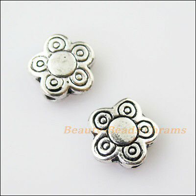 12 New Flower Star Charms Tibetan Silver Tone Spacer Beads 10mm