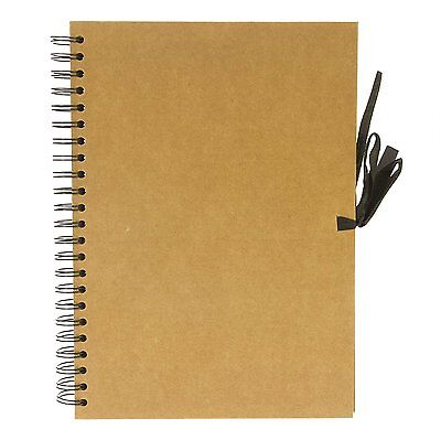 Seawhite Hardback Kraft Paper Sketch Book, Display, Scrapbook 40 Sheets - A4