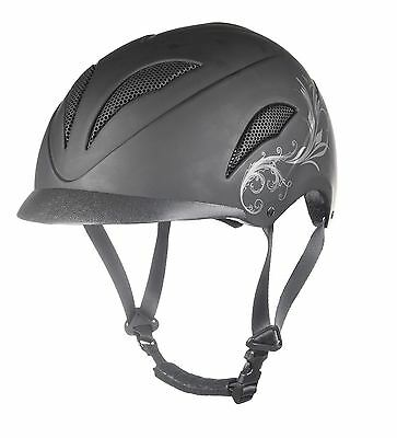 HKM Perfection Breathable Padded Safety Equestrian Horse Pony Riding Helmet New