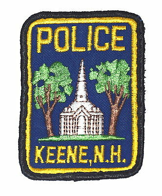 KEENE NEW HAMPSHIRE NH Police Sheriff Patch CHURCH VINTAGE OLD MESH ~