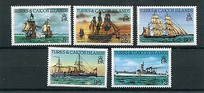 turks and caicos 1983 battelli boats 2 serie 653-57 mnh