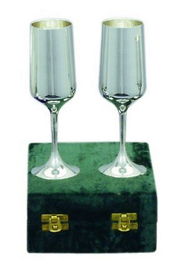 New Goblet Monarch White 6.5Inch Set Of 2 Made In India