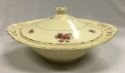 "Vintage Royal Staffordshire Pottery ""Honey Glaze"" Tureen Made In England"