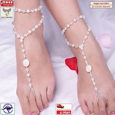 Barefoot Sandal Bridal Beach Pearl Anklet Chain Bracelet Foot Jewelry [A3W]