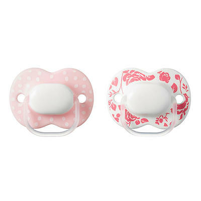 Tommee Tippee Closer to Nature 0-6 Months 2 Pack Pacifier - Girl