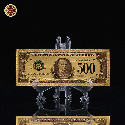 GOLD $100 DOLLAR Bank Note Old Independence Hall Paper Money
