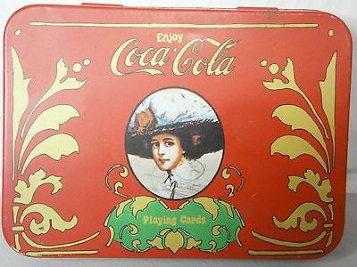 Coca Cola Playing Cards 2 Decks in 1 Tin With Score Pad Vintage ?