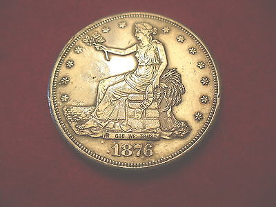 1876 S TRADE DOLLAR 2nd REVEERSE POSSIBLY CLEANED