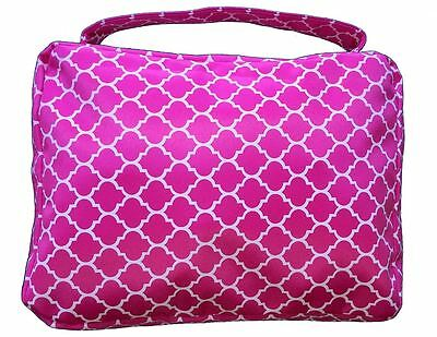 "2"" Deep Hot PINK BIBLE COVER Protective Holy Book Tote Pocket Zipper Carry Case"