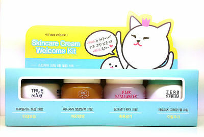 Etude House Skincare Cream Welcome Kit 40ml (10ml x 4) + Free Sample/ Korean