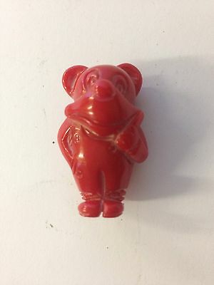 Vintage Carved Coral Pendant Of A Mouse Or Bear? Probably Chinese Novelty