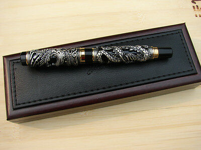 Jinhao Noblest Dragon & Phoenix Rollerball Pen , Gray Collection Pen and Box
