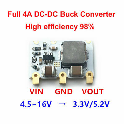 DC-DC 4.5V-16V 12V 9V 6V to 3.3V 5V 4A Step Down Voltage Regulated Power Supply