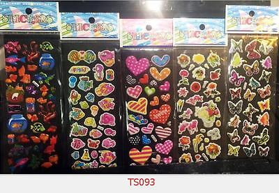Children cartoon stereoscopic 3D heart+fish bubble  stickers 5pcs / lot gift