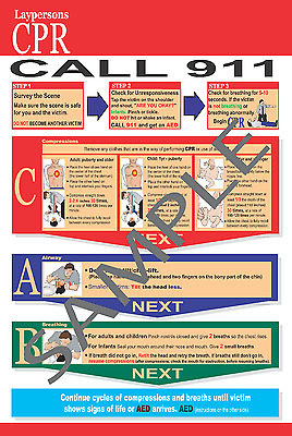 CPR and Choking Post Cards  LOT OF 100   2015 Guidelines