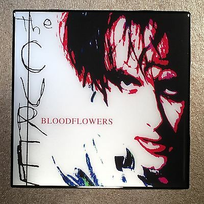 THE CURE Bloodflowers Coaster Ceramic Tile Record Cover 2000 - Robert Smith