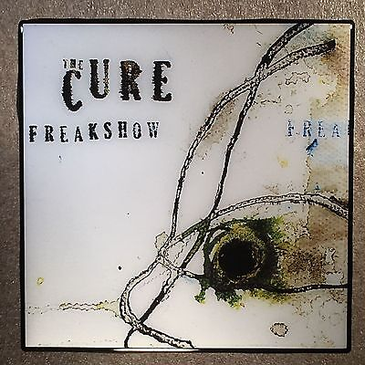 THE CURE Freakshow Coaster Ceramic Tile Record Cover 2008 - Robert Smith